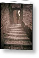 Bellagio Stairs Greeting Card by Chuck Parsons