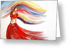 Belly Dancer 2 Greeting Card by Julie Lueders