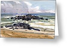 Belmar Jetty Two Greeting Card by Donald Maier