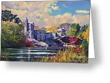 Belvedere Castle Central Park Greeting Card by David Lloyd Glover
