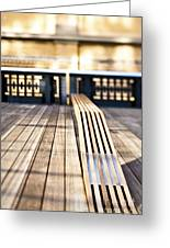 Benches At The High Line Park Greeting Card by Eddy Joaquim