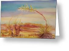 Bending Yucca Greeting Card by Summer Celeste