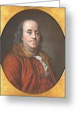 Benjamin Franklin Greeting Card by Jean Valade