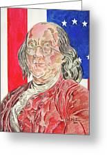 Benjamin Franklin Greeting Card by John Keaton