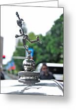 Benz 1916 Ds2 - Hood Ornament Greeting Card by Kaye Menner