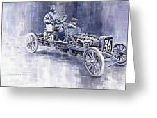 Benz 60hp Targa Florio Rennwagen 1907 Greeting Card by Yuriy  Shevchuk