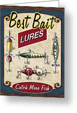 Best Bait Lures Greeting Card by JQ Licensing