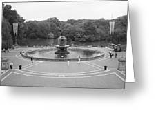 Bethesda Fountain Central Park New York Greeting Card by Christopher Kirby