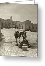 Bethlehem: Street, C1911 Greeting Card by Granger