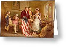 Betsy Ross 1777 Greeting Card by Jean Leon Gerome Ferris