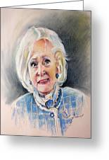 Betty White In Boston Legal Greeting Card by Miki De Goodaboom