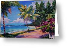 Between The Palms 20x16 Greeting Card by John Clark