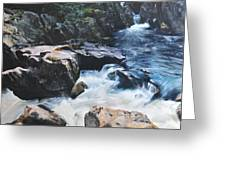 Betws-y-coed Waterfall Greeting Card by Harry Robertson