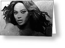 Beyonce Bw By Gbs Greeting Card by Anibal Diaz