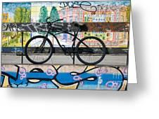 Bicycle Graffiti Greeting Card by Christos Koudellaris