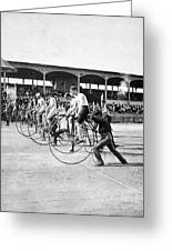 Bicycle Race, 1890 Greeting Card by Granger