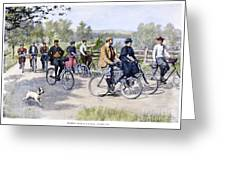 Bicycle Tourists, 1896 Greeting Card by Granger
