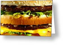 Big Mac - Painterly Greeting Card by Wingsdomain Art and Photography