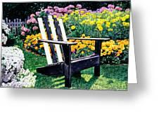 Big Old Chair Evening Light Greeting Card by David Lloyd Glover