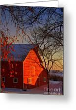 Big Red Barn Greeting Card by Julie Lueders