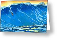 Big Wave Greeting Card by Douglas Simonson