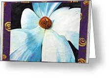 Big White Flower Greeting Card by Grace Matthews