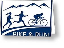 Bike Cycle Run Race Greeting Card by Aloysius Patrimonio