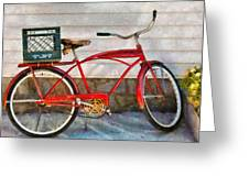 Bike - Delivery Bike Greeting Card by Mike Savad