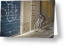 Bike In Florence Greeting Card by Andre Goncalves