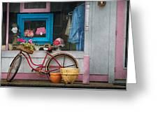 Bike - Lulu's Bike Greeting Card by Mike Savad