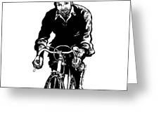 Bike Rider Greeting Card by Karl Addison