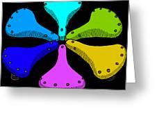 Bike Saddle Color Theory Greeting Card by Karl Addison