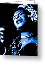Billie Holiday Greeting Card by DB Artist