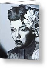 Billie Holiday Greeting Card by Kaaria Mucherera