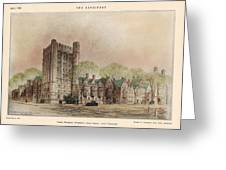 Bingham Dormitory. Yale University. New Haven Connecticut 1926 Greeting Card by Walter Chambers