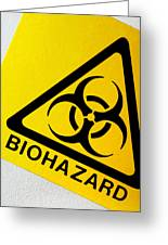 Biohazard Symbol Greeting Card by Tim Vernon, Nhs Trust