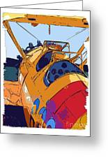 Biplane Greeting Card by Diane E Berry