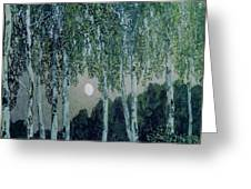 Birch Trees Greeting Card by Aleksandr Jakovlevic Golovin