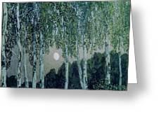 Birch Trees Greeting Card by Aleksandr Jakovlevic Golovin