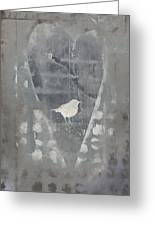 Bird In Heart Greeting Card by Carol Leigh