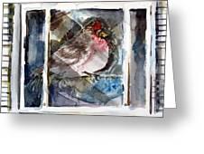 Bird Greeting Card by Mindy Newman