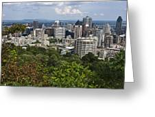 Birds Eye View Of Montreal, Canada Greeting Card by Stacy Gold