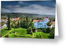 Birdseye View Of Santa Barbara I Greeting Card by Steven Ainsworth