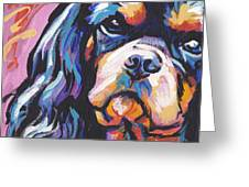 Black And Tan Cav Greeting Card by Lea