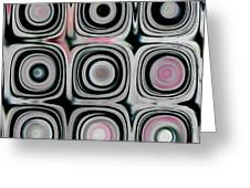 Black and White Circles H Greeting Card by Patty Vicknair