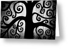Black and White Tree Greeting Card by Angelina Vick