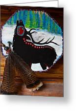 Black Elk Drum Painting Greeting Card by Karon Melillo DeVega