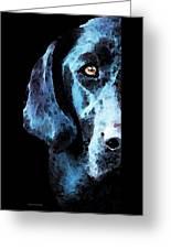 Black Labrador Retriever Dog Art - Hunter Greeting Card by Sharon Cummings
