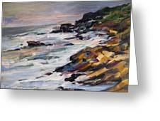 Black Point Greeting Card by Patricia Maguire