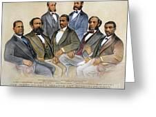 BLACK SENATORS, 1872 Greeting Card by Granger